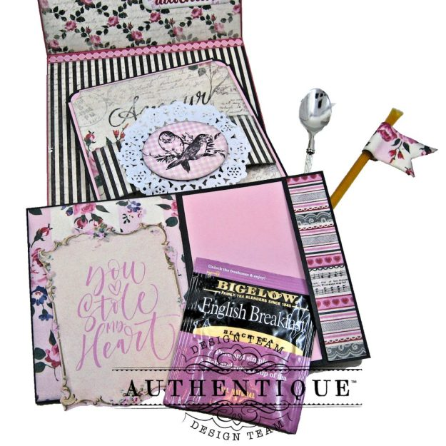 Authentique Romance Shaker Valentine Tutorial by Kathy Clement Kathy by Design Photo 11
