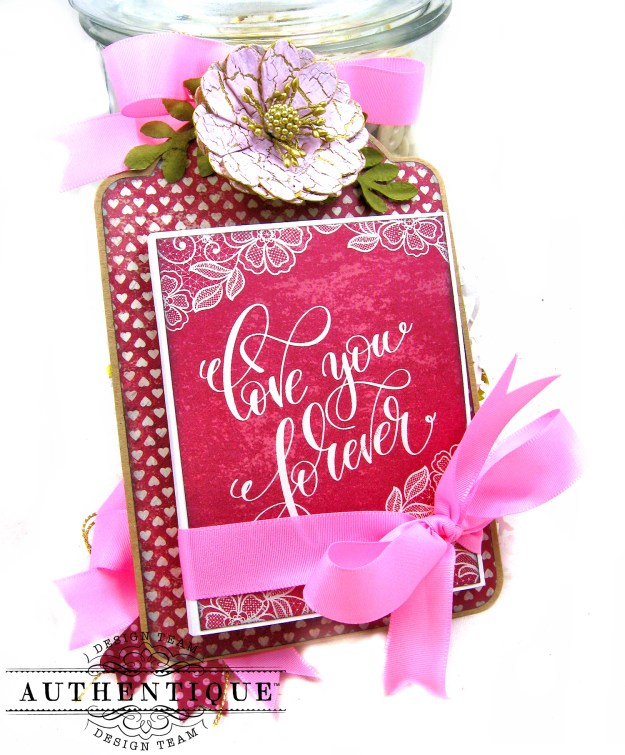 Romantic Valentine Shaker Tags by Kathy Clement Product by Authentique Paper Photo 03