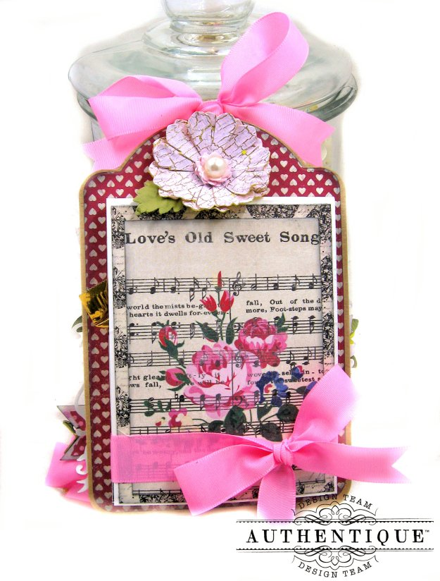 Love's Old Sweet Song Romantic Valentine Shaker Tags by Kathy Clement Product by Authentique Paper Photo 03