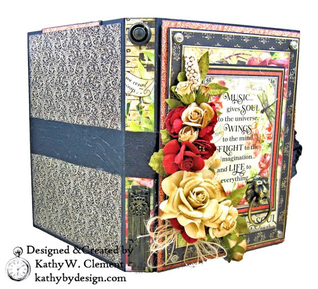 Graphic 45 Love Notes Trifold Tag and Pocket Folio by Kathy Clement Kathy by Design Photo 03
