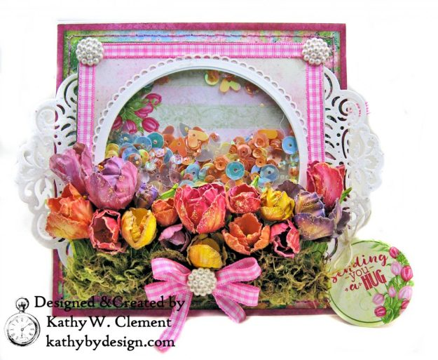 Heartfelt Creations Tulip Time Shaker Card by Kathy Clement for the Heartfelt Creations Alumni Hop photo 01