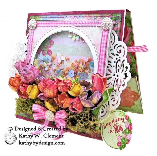 Heartfelt Creations Tulip Time Shaker Card by Kathy Clement for the Heartfelt Creations Alumni Hop photo 03