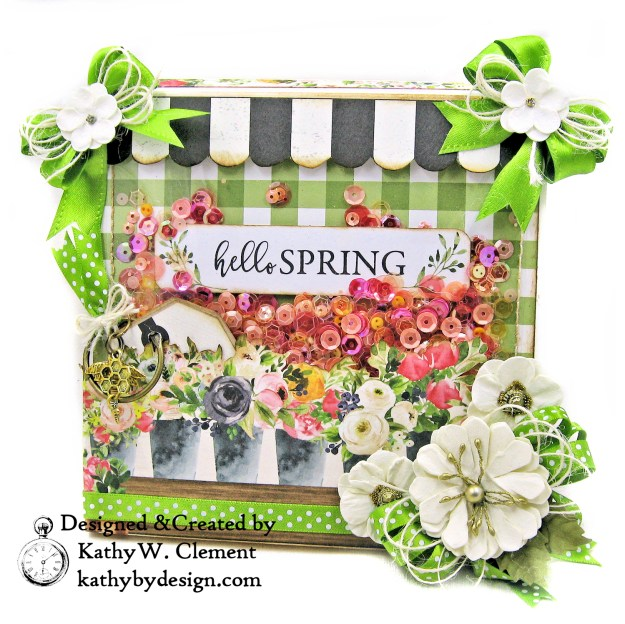 Carta Bella Spring Market Shaker Card Folio by Kathy Clement for Really Reasonable Ribbon Photo 01