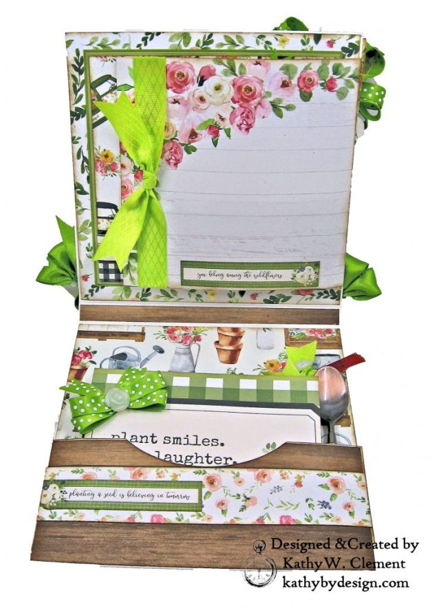 Carta Bella Spring Market Shaker Card Folio by Kathy Clement for Really Reasonable Ribbon Photo 03