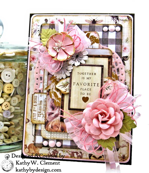 Prima Spring Farmhouse Valentine by Kathy Clement kathy by design for Really Reasonable Ribbon Photo 01