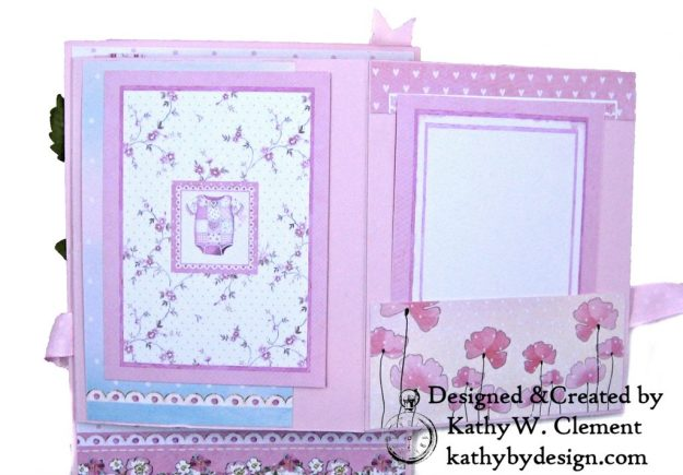Stamperia Baby Girl Shaker Card by Kathy Clement Kathy by Design for Really Reasonable Ribbon Photo 09