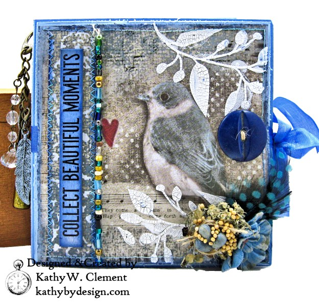 Stamperia Winter Blues Folio Eileen Hull Passport Journal by Kathy Clement for The Funkie Junkie Boutique Photo 01