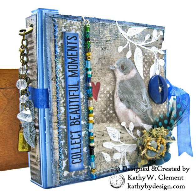 Stamperia Winter Blues Folio Eileen Hull Passport Journal by Kathy Clement for The Funkie Junkie Boutique Photo 03