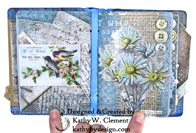 Stamperia Winter Blues Folio Eileen Hull Passport Journal by Kathy Clement for The Funkie Junkie Boutique Photo 10