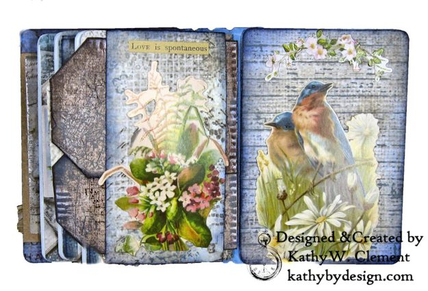 Stamperia Winter Blues Folio Eileen Hull Passport Journal by Kathy Clement for The Funkie Junkie Boutique Photo 11