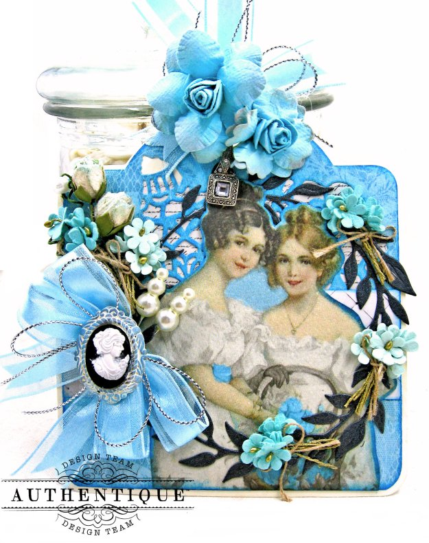 Authentique Glamour Tag & Pocket Easel Card Tutorial Graphic 45 Square Tag Square Tag and Clocks Die Eileen Hull Credit Card Sleeve Tim Holtz Mixed Media 2 Dies Spellbinder Harvest Wreath Die by Kathy Clement Kathy by Design Photo 4