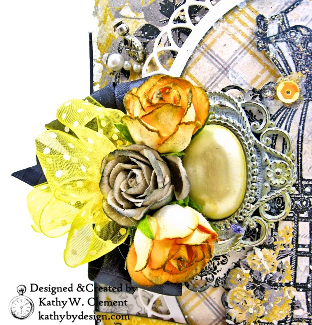 Authentique Poised Shabby Chic Card by Kathy Clement Kathy by Design for Really Reasonable Ribbon Photo  05