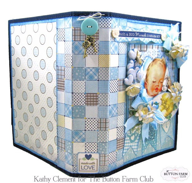 Authentique Swaddle Boy Mini Album Kit by Kathy Clement Kathy by Design for The Button Farm Club Photo 02