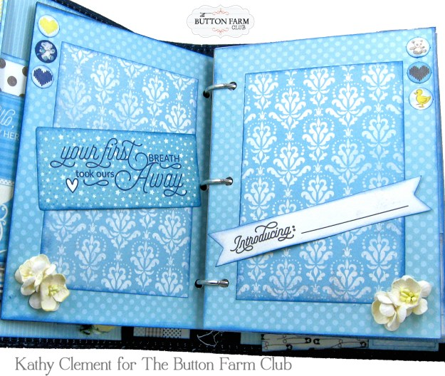 Authentique Swaddle Boy Mini Album Kit by Kathy Clement Kathy by Design for The Button Farm Club Photo 05