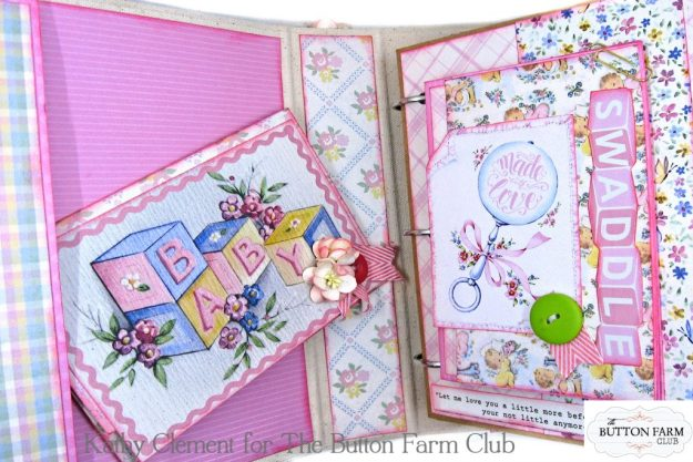 Authentique Swaddle Girl Mini Album Kit by Kathy Clement Kathy by Design for The Button Farm Club Photo 03