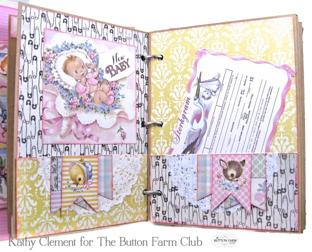 Authentique Swaddle Girl Mini Album Kit by Kathy Clement Kathy by Design for The Button Farm Club Photo 04