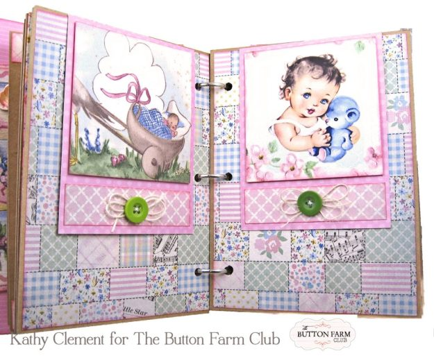 Authentique Swaddle Girl Mini Album Kit by Kathy Clement Kathy by Design for The Button Farm Club Photo 05