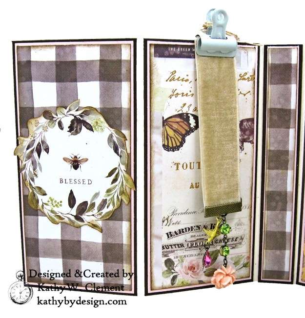 Prima Spring Farmhouse Beekeeper Gift Box Folio Tutorial Kathy by Design Photo 02