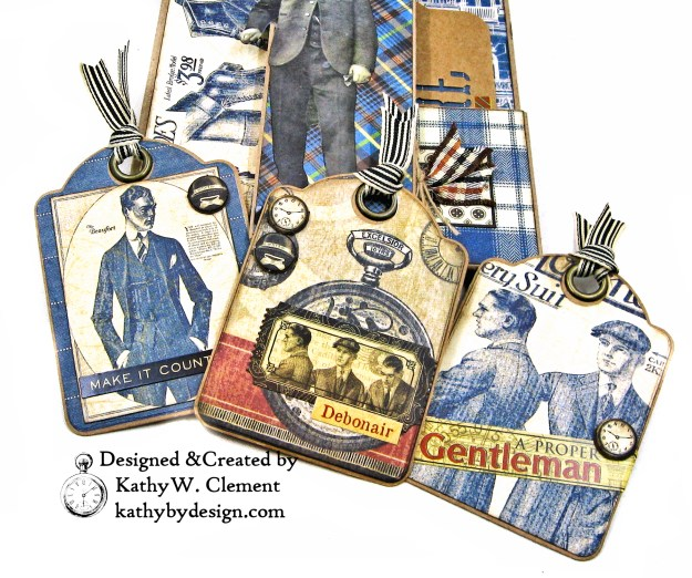 Graphic 45 A Proper Gentleman Card Folio by Kathy Clement for The Funkie Junkie Boutique Photo 05