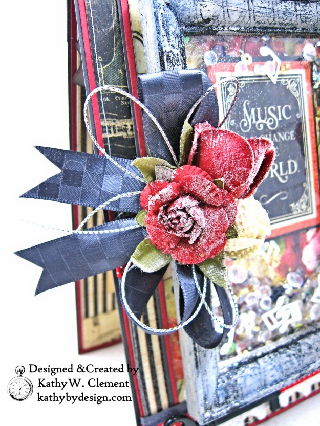 Really Reasonable Ribbon Charcoal Checkerboard Satin AC Moore flowers from Little Birdie by Kathy Clement Photo 01
