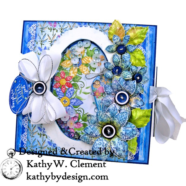 Heartfelt Creations Buttons and Blooms Shaker Folio by Kathy Clement Kathy by Design Photo 01