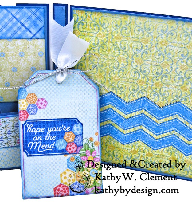 Buttons and Blooms Tag Insert by kathy clement