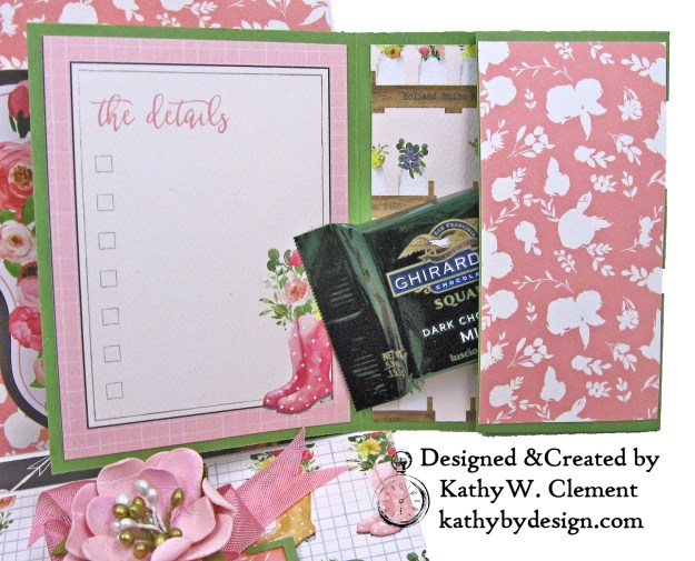 Carta Bella Spring Market Card Folio Chocolate Wallet Kathy Clement