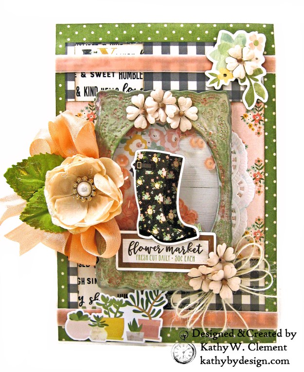 Rain Boot Shaker Card Simple Stories Spring Farmhouse by Kathy Clement Kathy by Design Photo 01