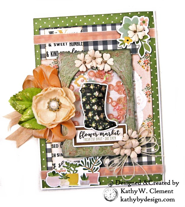 Rain Boot Shaker Card Simple Stories Spring Farmhouse by Kathy Clement Kathy by Design Photo 02