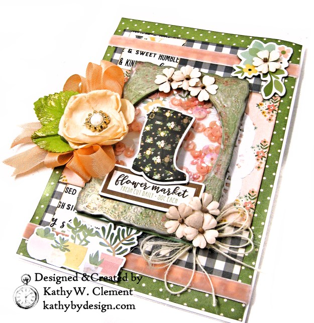 Rain Boot Shaker Card Simple Stories Spring Farmhouse by Kathy Clement Kathy by Design Photo 03