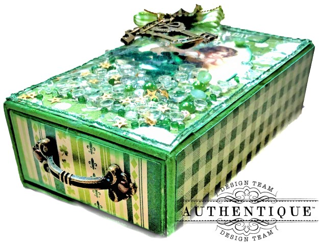 Authentique Clover Last Minute St. Patrick's Day Treat Box Tutorial by Kathy Clement Kathy by Design Photo 05