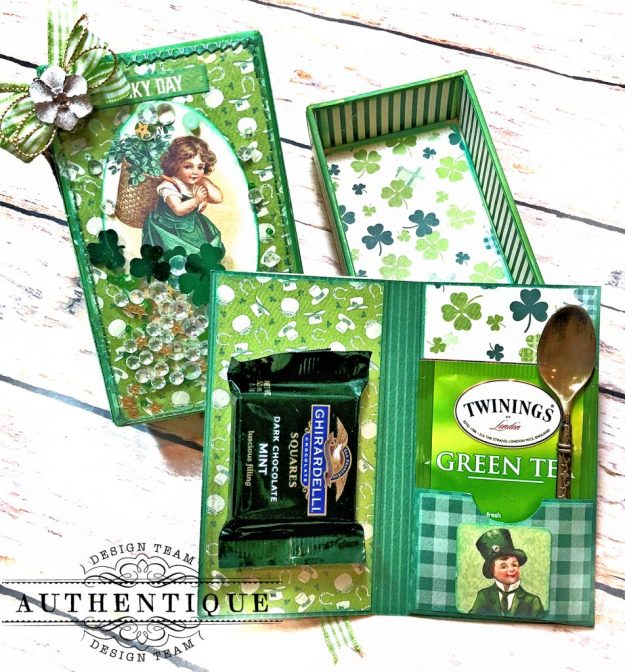 Authentique Clover Last Minute St. Patrick's Day Treat Box Tutorial by Kathy Clement Kathy by Design Photo 06