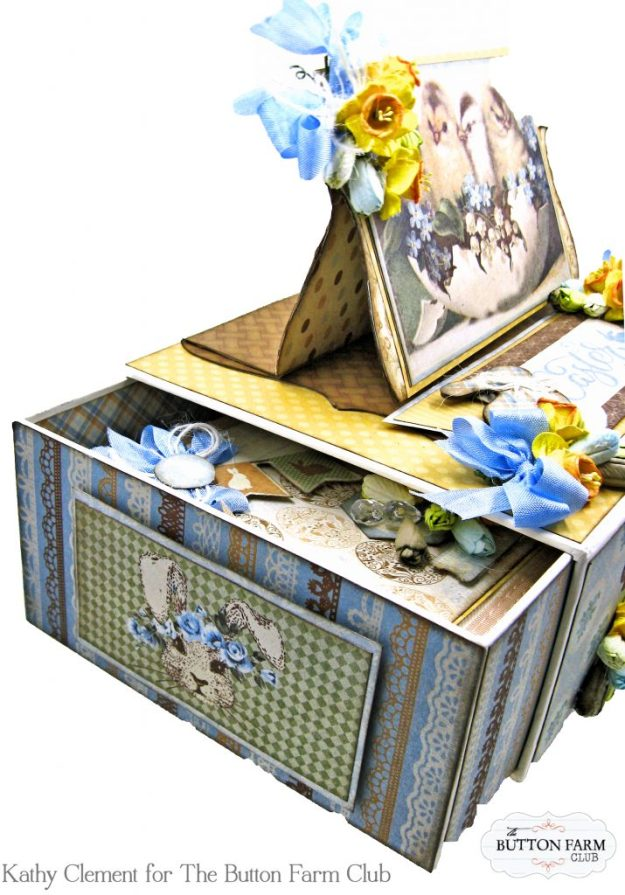 The Button Farm Club Basket Full of Joy Boxed Mini Album Kit Authentique Abundant Graphic 45 Deep Rectangle Box by Kathy Clement Kathy by Design Photo 03