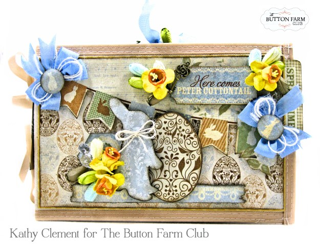 The Button Farm Club Basket Full of Joy Boxed Mini Album Kit Authentique Abundant Graphic 45 Deep Rectangle Box by Kathy Clement Kathy by Design Photo 04