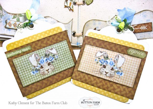 The Button Farm Club Basket Full of Joy Boxed Mini Album Kit Authentique Abundant Graphic 45 Deep Rectangle Box by Kathy Clement Kathy by Design Photo 07