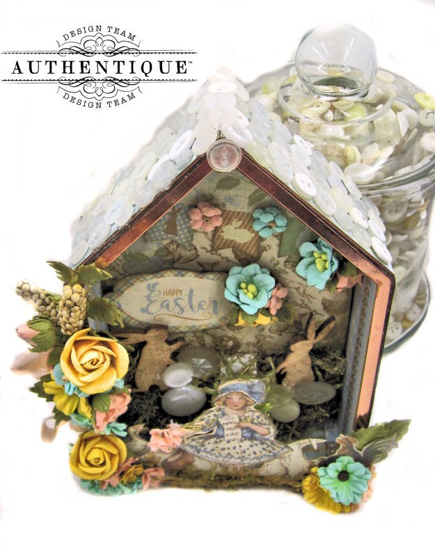 Authentique Abundant Easter Bunny Hideaway House by Kathy Clement Kathy by Design Photo 04