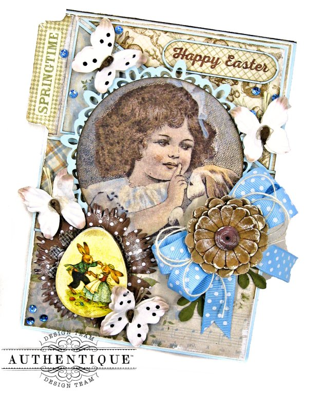 Authentique Abundant Baby Easter Bunny Card Folio by Kathy Clement Kathy by Design Photo 03