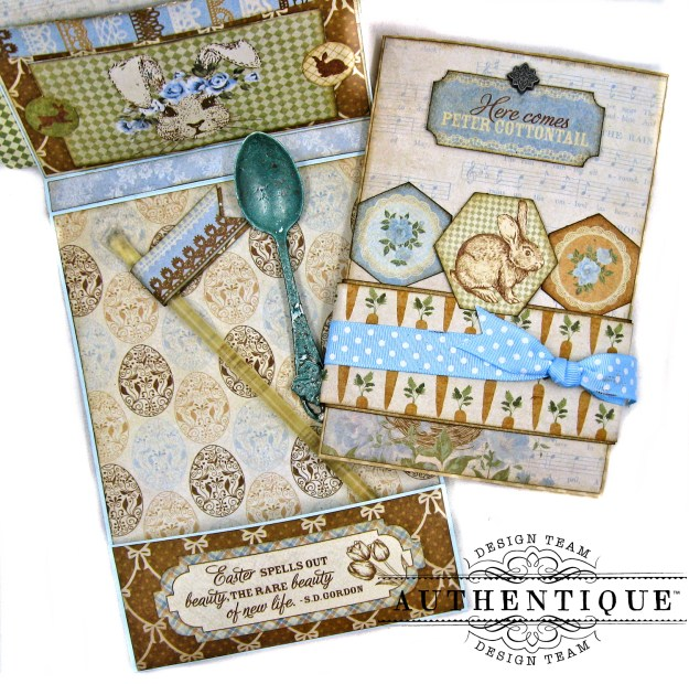 Authentique Abundant Baby Easter Bunny Card Folio by Kathy Clement Kathy by Design Photo 05