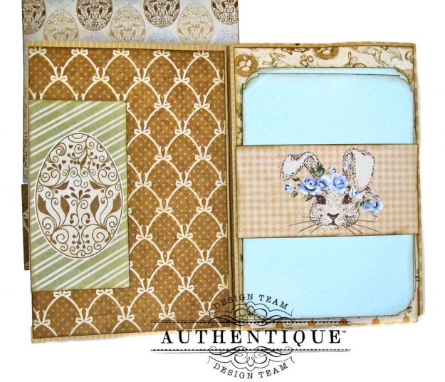 Authentique Abundant Baby Easter Bunny Card Folio by Kathy Clement Kathy by Design Photo 07