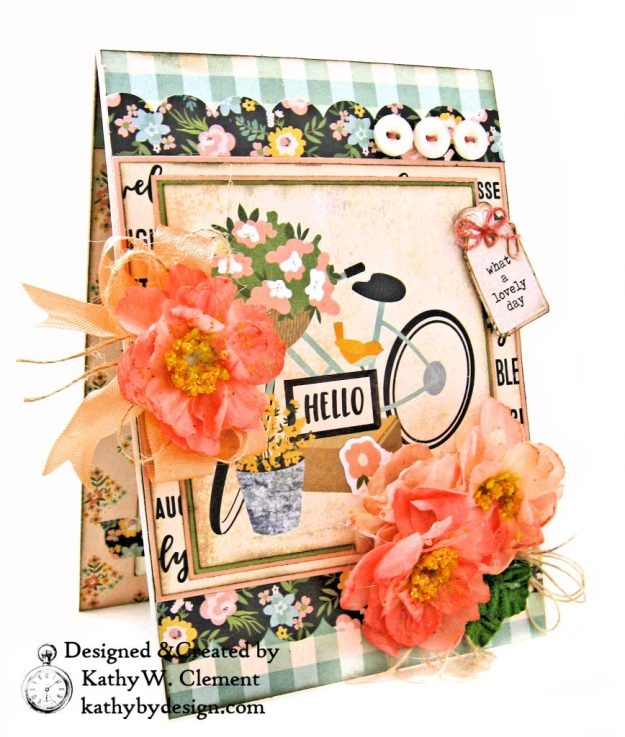 Simple Stories Spring Farmhouse Blooming Bicycle Card by Kathy Clement Kathy by Design Photo 01