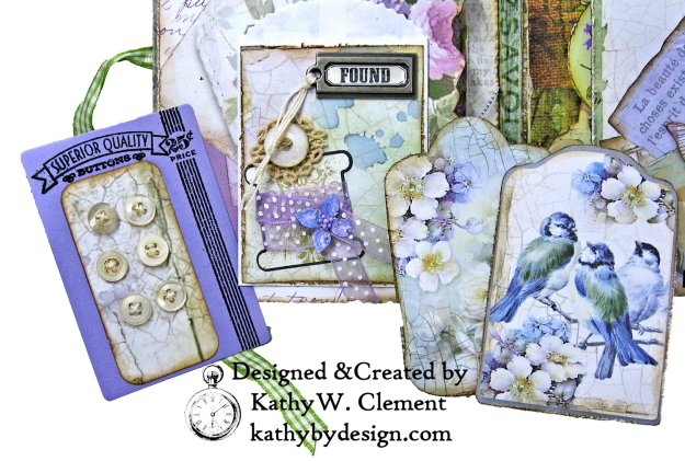 Stamperia Lilac Flower Alphabet Tissue Wrapped Journal Tim Holtz Lace Baseboard Frame Heartfelt Creations Lush Lilac by Kathy Clement for The Funkie Junkie Boutique Photo 05