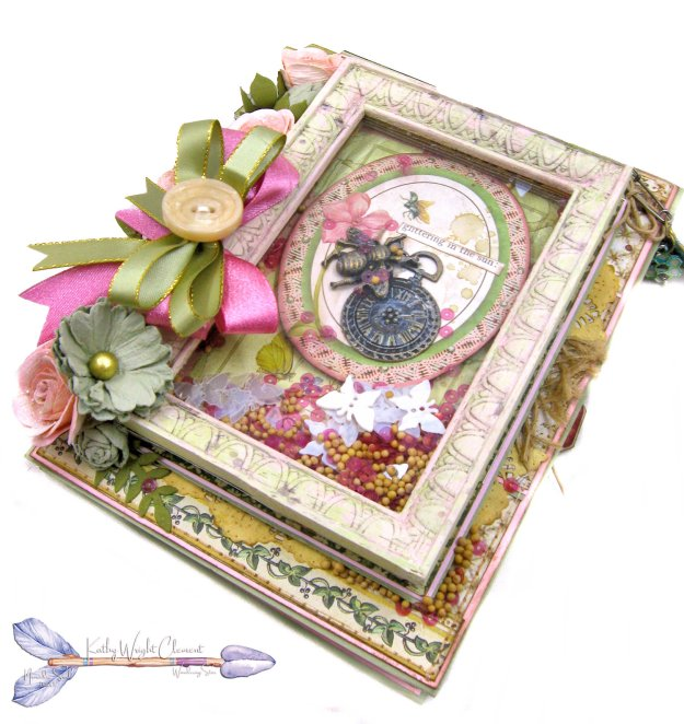 Stamperia Spring Botanic Shaker Card Folio Tutorial by Kathy Clement Kathy by Design Nomadic Soul Diaries Photo 03