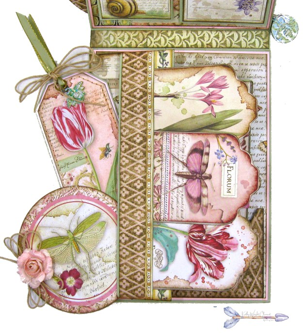 Stamperia Spring Botanic Shaker Card Folio Tutorial by Kathy Clement Kathy by Design Nomadic Soul Diaries Photo 06
