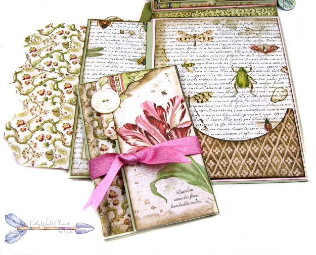 Stamperia Spring Botanic Shaker Card Folio Tutorial by Kathy Clement Kathy by Design Nomadic Soul Diaries Photo 08