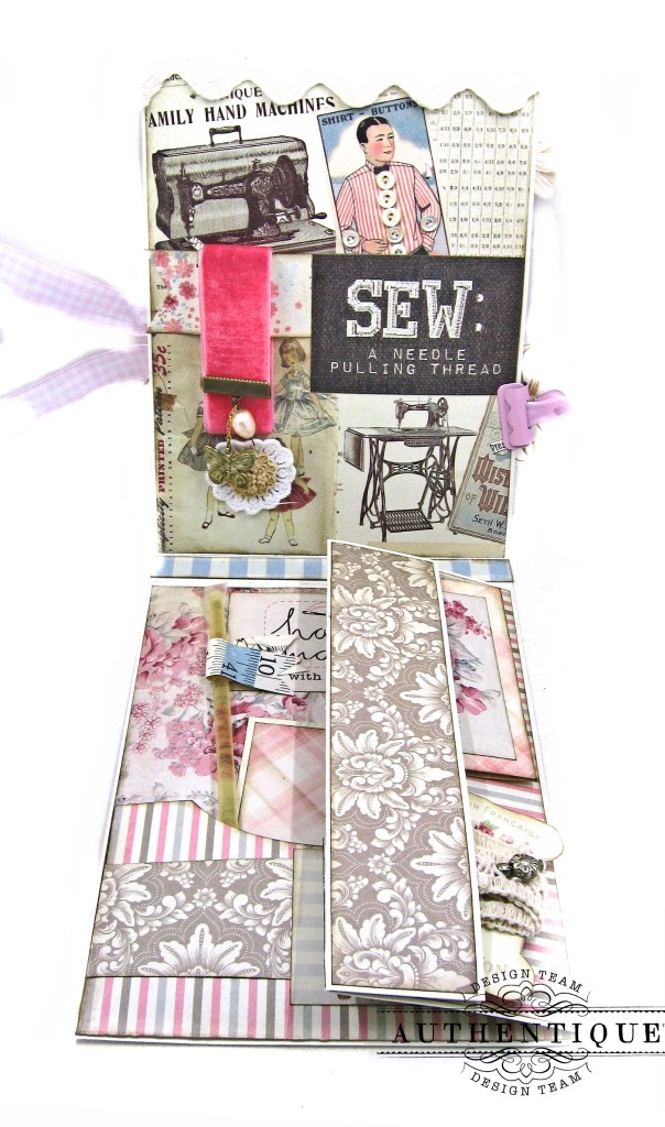 Authentique Stitches Mother's Day Sewing Card Folio Kathy Clement Kathy by Design Photo 04