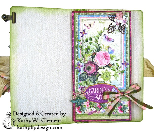Graphic 45 Bloom Eileen Hull Journal Die Tutorial by Kathy Clement Kathy by Design Photo 03