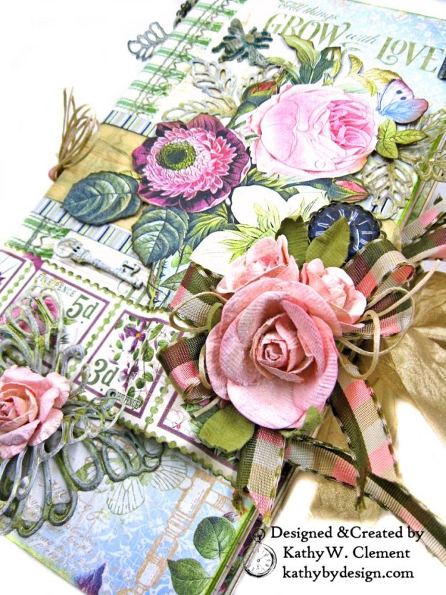 Graphic 45 Bloom Eileen Hull Journal Die Tutorial by Kathy Clement Kathy by Design Photo 02