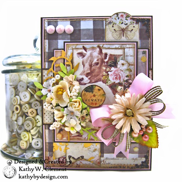Prima Spring Farmhouse Get Well Card by Kathy Clement Kathy by Design Photo 01