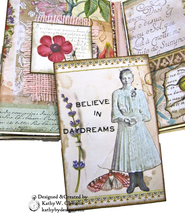 Stamperia Spring Botanic Eileen Hull Treasures Box and Notebook Tutorial Seth Apter Baked Velvet Embossing Powders by Kathy Clement Kathy by Design for The Funkie Junkie Boutique Photo 08
