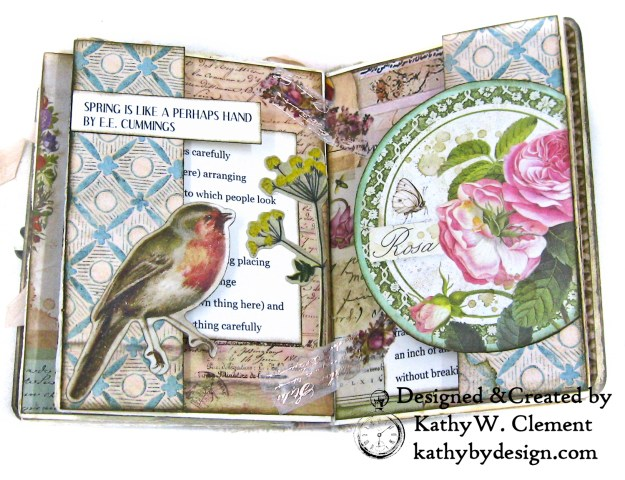 Stamperia Spring Botanic Eileen Hull Treasures Box and Notebook Tutorial Seth Apter Baked Velvet Embossing Powders by Kathy Clement Kathy by Design for The Funkie Junkie Boutique Photo 09